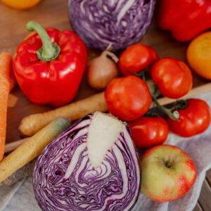 buntes Gemüse, Rotkohl